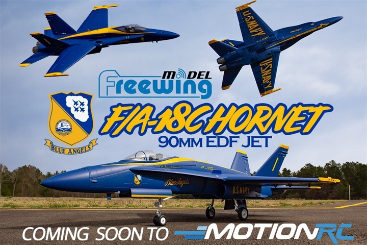 Freewing Blue Angels F/A-18C Hornet 90mm EDF Jet
