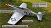 Flight Model P-51 Mustang 20CC   sku: F007