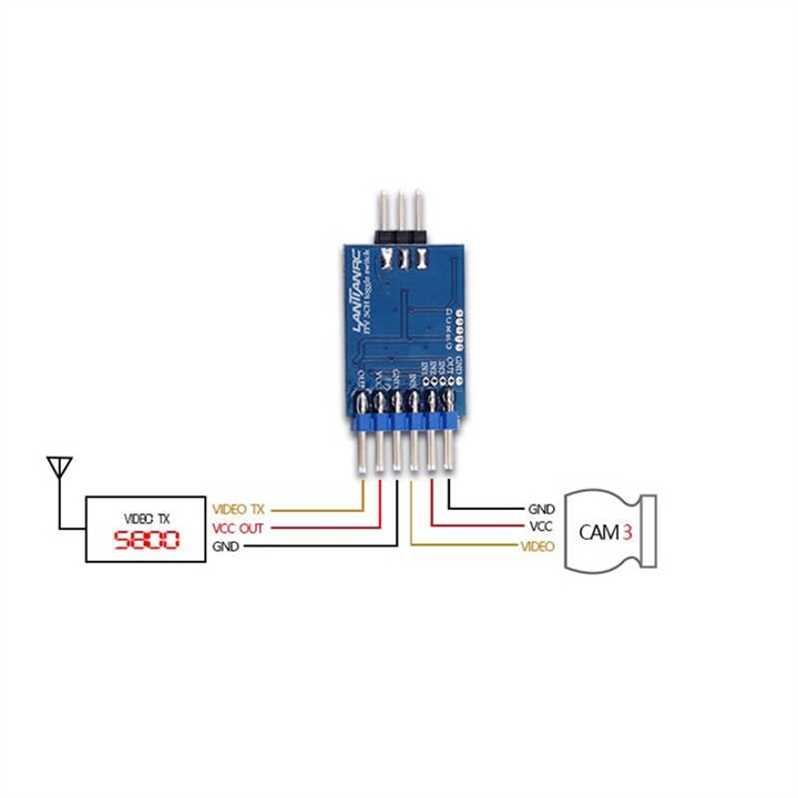 FPV Video Switcher Module 3 channel