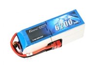 Gens ace 6200mAh 22.2V 25C 6S1P Lipo Battery Pack with Deans plug