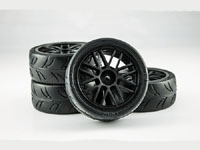 USGT Pre Glued Tires ( GT Wheel, Black)