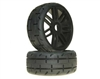 GRP GT - TO1 Revo Belted Pre-Mounted 1 8 Buggy Tires (Black) (2) (S1) GRPGTX01-S1