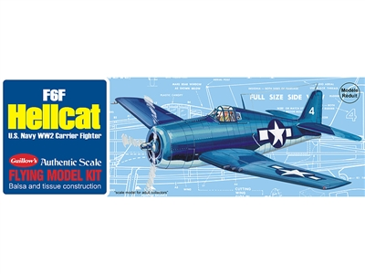 "F6F Hellcat 16-1/2"" Flying Model Kit - GUI503"