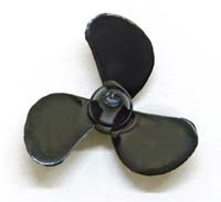 Graupner Marine Propeller 3-Blade left 25mm, 2mm Thread