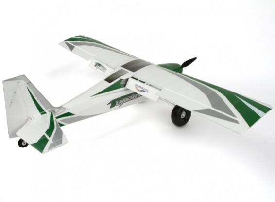 HobbyKing New Durafly Tundra Green//Silver 1300mm 51 PNF Sports Model w//Flaps