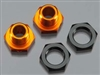 HPI101785 Hex Wheel Adapters 5mm Org/Blk Trophy Buggy