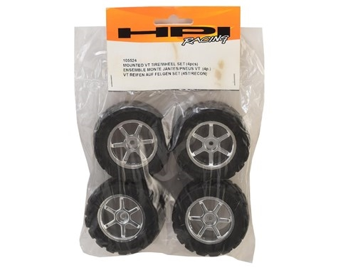 HPI Mini Recon Mounted VT Tire/Wheel Set (4)