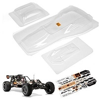 HPI Baja 5B 1F 1/5 Buggy Body (Clear)