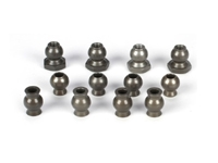 Camber & Steering Pivot Ball Set (12): 5IVE-T, MINI WRC (LOSB5904)