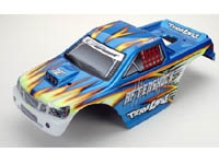 LOSB8015 Aftershock Painted Body, Blue w/ Stickers
