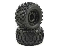 "Pro-Line 10125-18 Badlands MX28 2.8"" Tires w/F-11 Nitro Rear Wheels (2) (Black)"