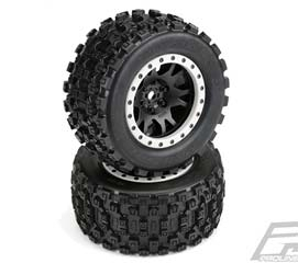 Pro-Line 10131-13 X-Maxx Badlands MX43 Pro-Loc Pre-Mounted All Terrain Tires (MX43)