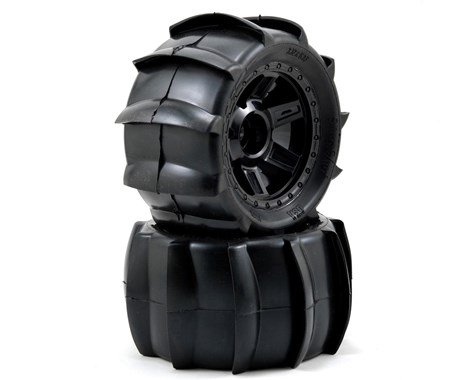 "Pro-Line Sling Shot 3.8"" Tire 1/2"" Offset Wheel (2) (Black) (M2) w/Desperado 17mm MT Wheel, PRO1179-11"