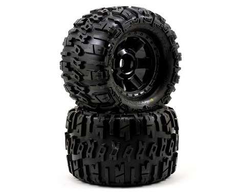 "Pro-Line 1184-11 Trencher X 3.8"" Tire 1/2"" Offset (2) (Black) (M2) w/Desperado 17mm MT Wheels"