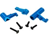 Aluminum Servo Saver and Bell Crank Set, Blue, 122057