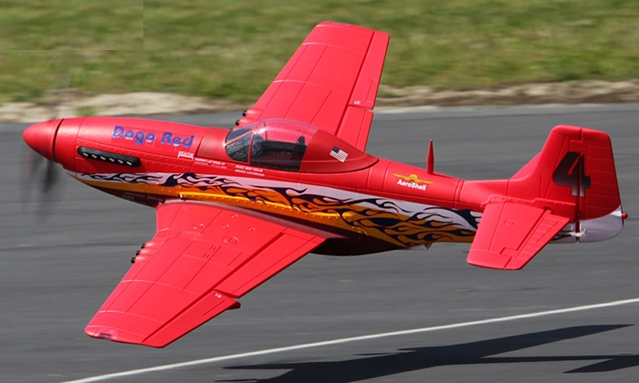Starmax P-51 Mustang 1600mm/63in EPO RC Airplane PNP Dago Red