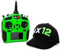 Spektrum RC iX12 2.4GHz DSMX 12-Channel Radio System (Transmitter Only) (Green) SPMR12000G