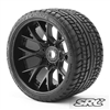 Monster Truck Road Crusher Belted tire Pre-Glued with WHD Black wheel (2)