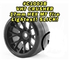 Monster Truck VHT Crusher Belted tire preglued on WHD Black wheel 2pc set