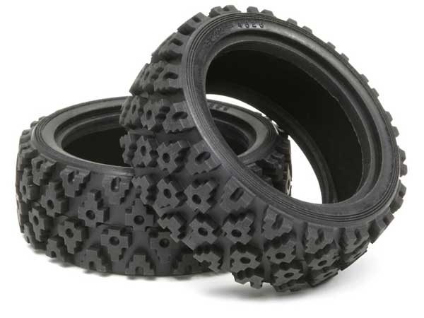 Tamiya 50476 Rally Block Tire Set (2)