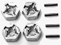 Tamiya 53056 Pin Type Wheel Adapter 12mm 81/49 (4)