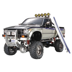 Tamiya Toyota Hilux High-Lift Electric 4X4 Scale Truck Kit w/3-Speed & Surfboard
