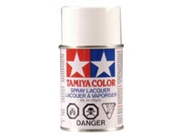 Tamiya PS-01 White Polycarbonate Spray Paint, TAM86001