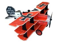 TH 35 in EPP CRACK FOKKER DR.1 TRI - RED