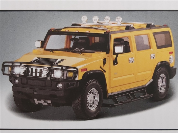 Hummer H2 SUV 1/18 scale (Yellow)