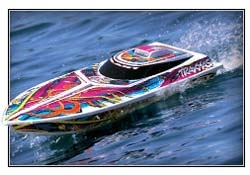 Traxxas 38104-1 Blast Race Boat with TQ 2.4GHz Receiver RTR: Full Multi Color (TRA381041)