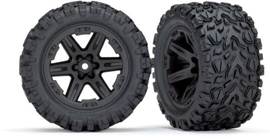"Traxxas 6773 Talon EXT 2.8"" Pre-Mounted Tires w/RXT Wheels (2) (Black)"