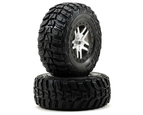 Traxxas 6874R Kumho Venture MT Rear Tires (2) (Satin Chrome) (S1)