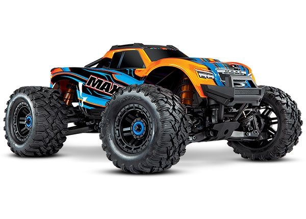 Traxxas Maxx with 4S ESC - Orange 1/10 Scale 4WD Brushless Electric Monster Truck, TRA890764 ORANGE