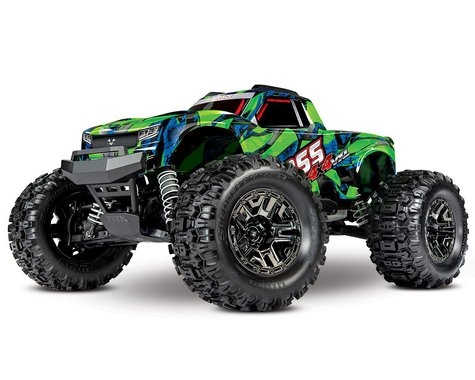 Traxxas Hoss 4X4 VXL 3S 4WD Brushless RTR Monster Truck (Green) w/TQi 2.4GHz Radio, TSM & Self-Righting, 90076-4