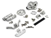 "Vanquish Products ""Currie Rockjock"" SCX10 Front Axle Assembly (Silver)"