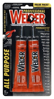 Welder Adhesive  All Purpose, Pack of two 1 oz tubes