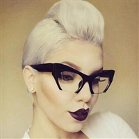 Women's Fashion Semi-Rimless Bottom Cut Cat Eye Sunglasses