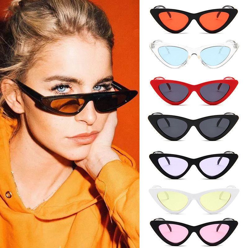 dcbf854a3aa Classic Style Cateye Sunglasses Small Retro Vintage Women Fashion Shades  2018