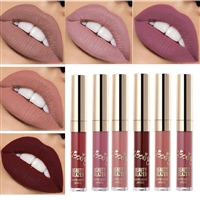 Beauty Glazed Matte Nude Liquid Lipstick Lip Gloss Kit Waterproof Lip Makeup Durable Lipgloss Cosmetics Mini 6pcs/set Birthday Edition Long Lasting...