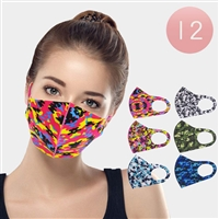 CAMOUFLAGE PRINT FASHION MASKS