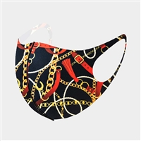 Fashion Chain Print Mask