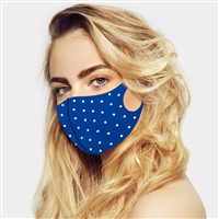 Stone Embellished Solid Fashion Mask