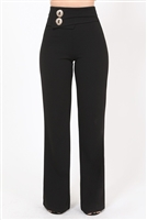 Over sized Button Front Detail Pants
