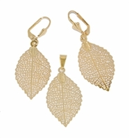 Small Leaf Earring and Pendant Set
