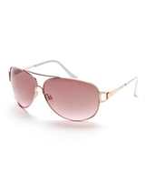 VINCE CAMUTO VC566 Rose Gold-Tone Aviator XL