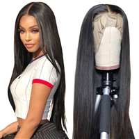 2X6 Lace Closure Wig Straght Brazilian Human Hair Lace Wigs 180% Density
