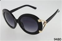 WOMAN'S TORTOISE SUNGLASSES WITH DETAILED GOLD PANTHER/BLACK
