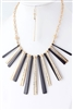 Metal Bar Fan Necklace