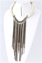 Chain Drop Collar Necklace