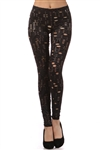 Cutout zebra print leggings